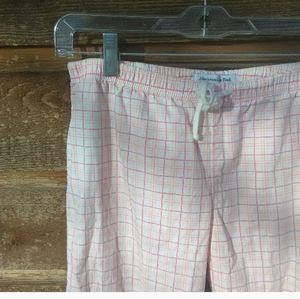 Abercrombie and Fitch Pink Plaid Pajama Pants